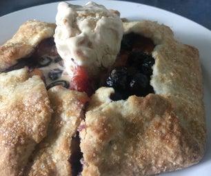 蓝莓番木瓜冰淇淋馅饼