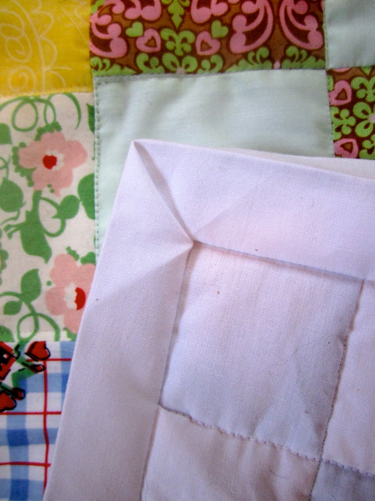 Flipping and Pinning the Binding.
