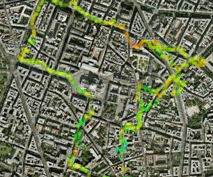 用手机测量和地图噪音污染