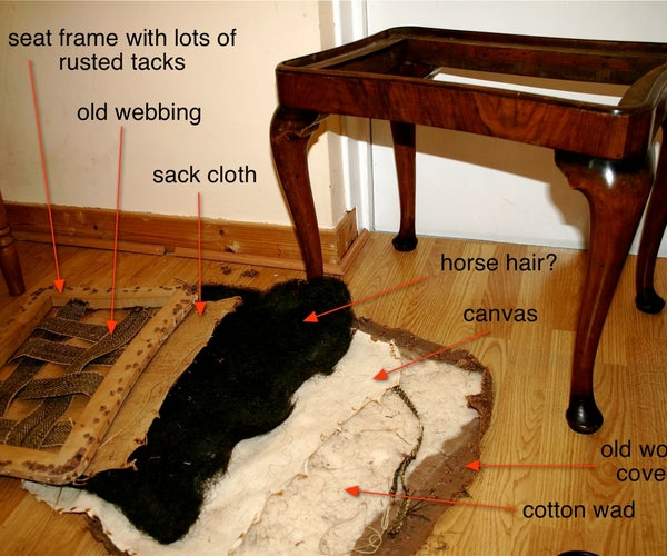 Upholster a Queen Anne Style Stool