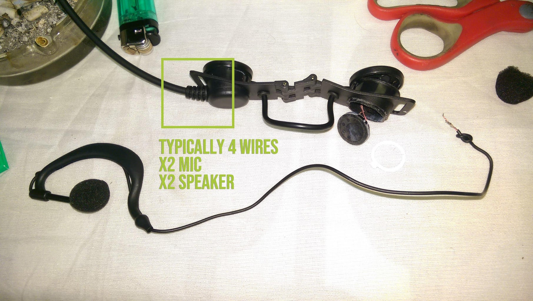 Disassemble the Headset