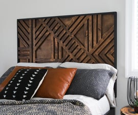 DIY Geometric Headboard