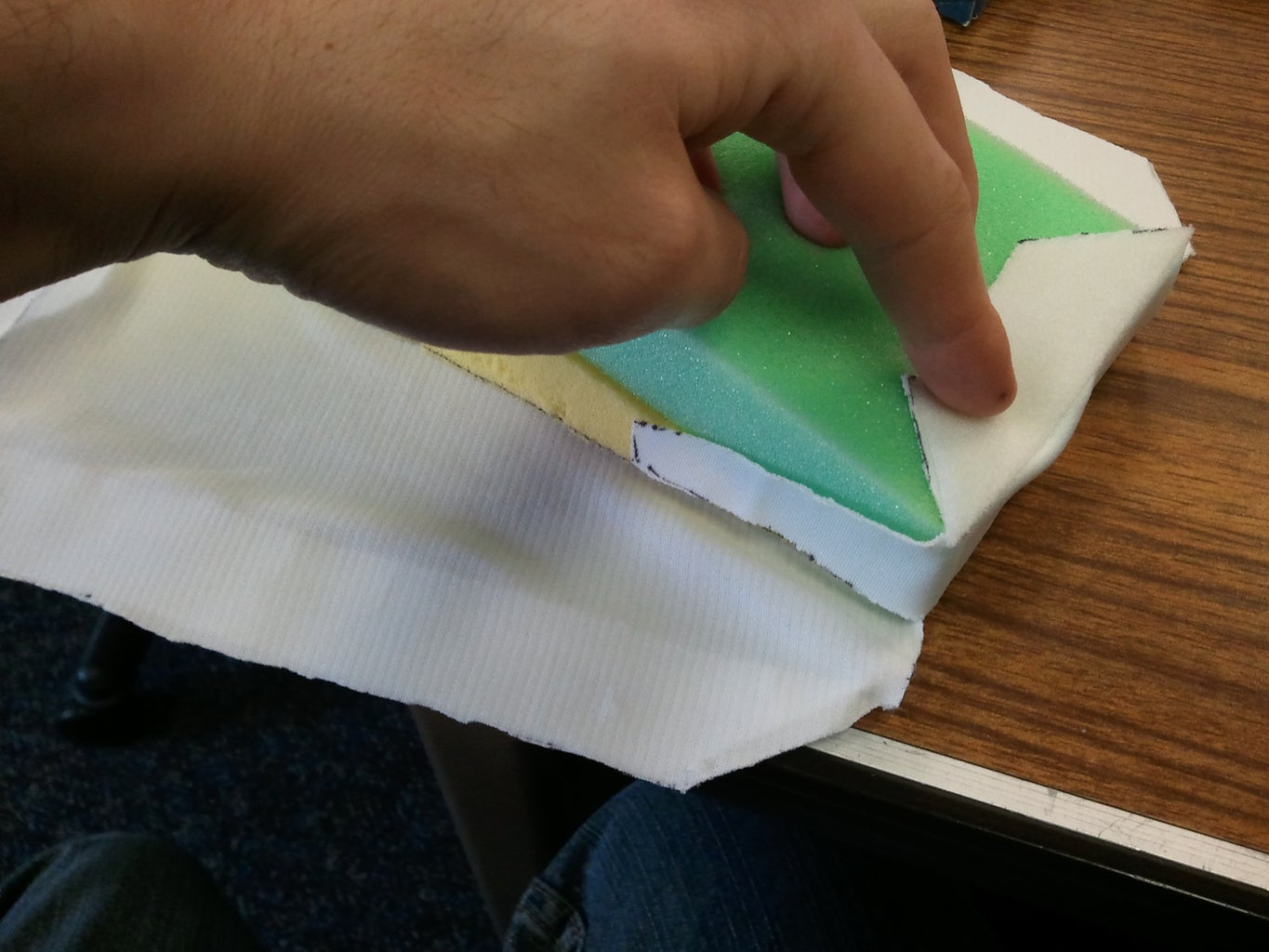 Cutting and Folding the Fabric