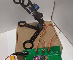 Simple Robot Arm With Lesson Plan for Circuits and Programming