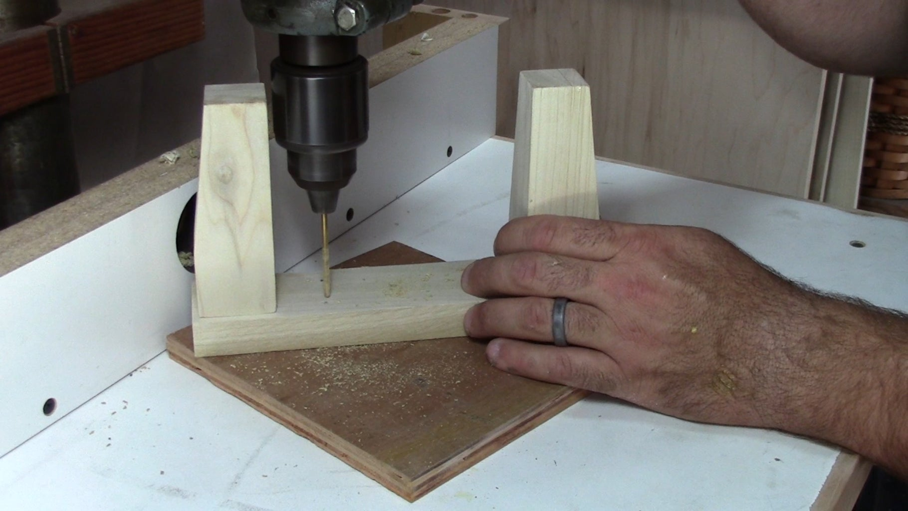Pre-drill Your Leg Assembly, and Attach It to the Box.