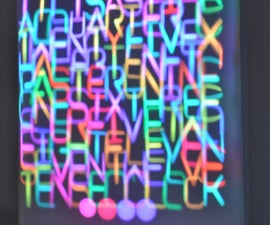 Word Clock Controlled by 114 Servos