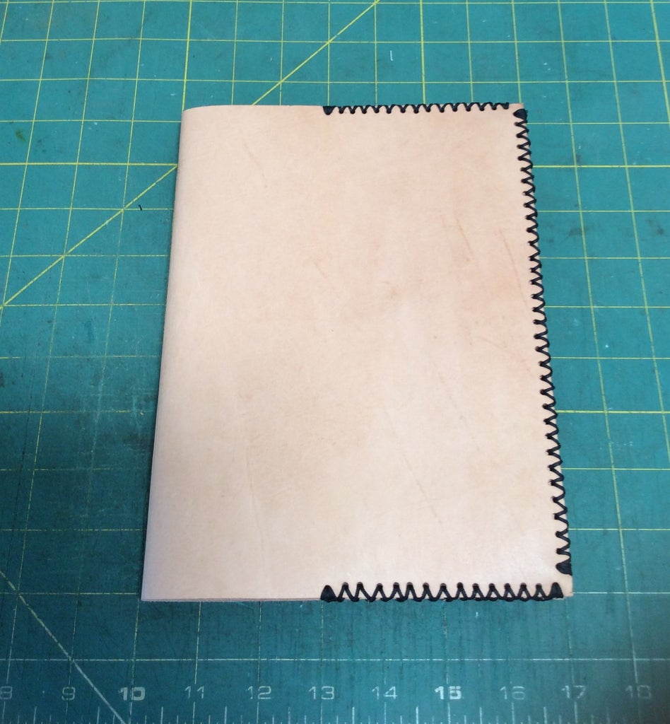 FINISHING THE LEATHER JOURNAL COVER