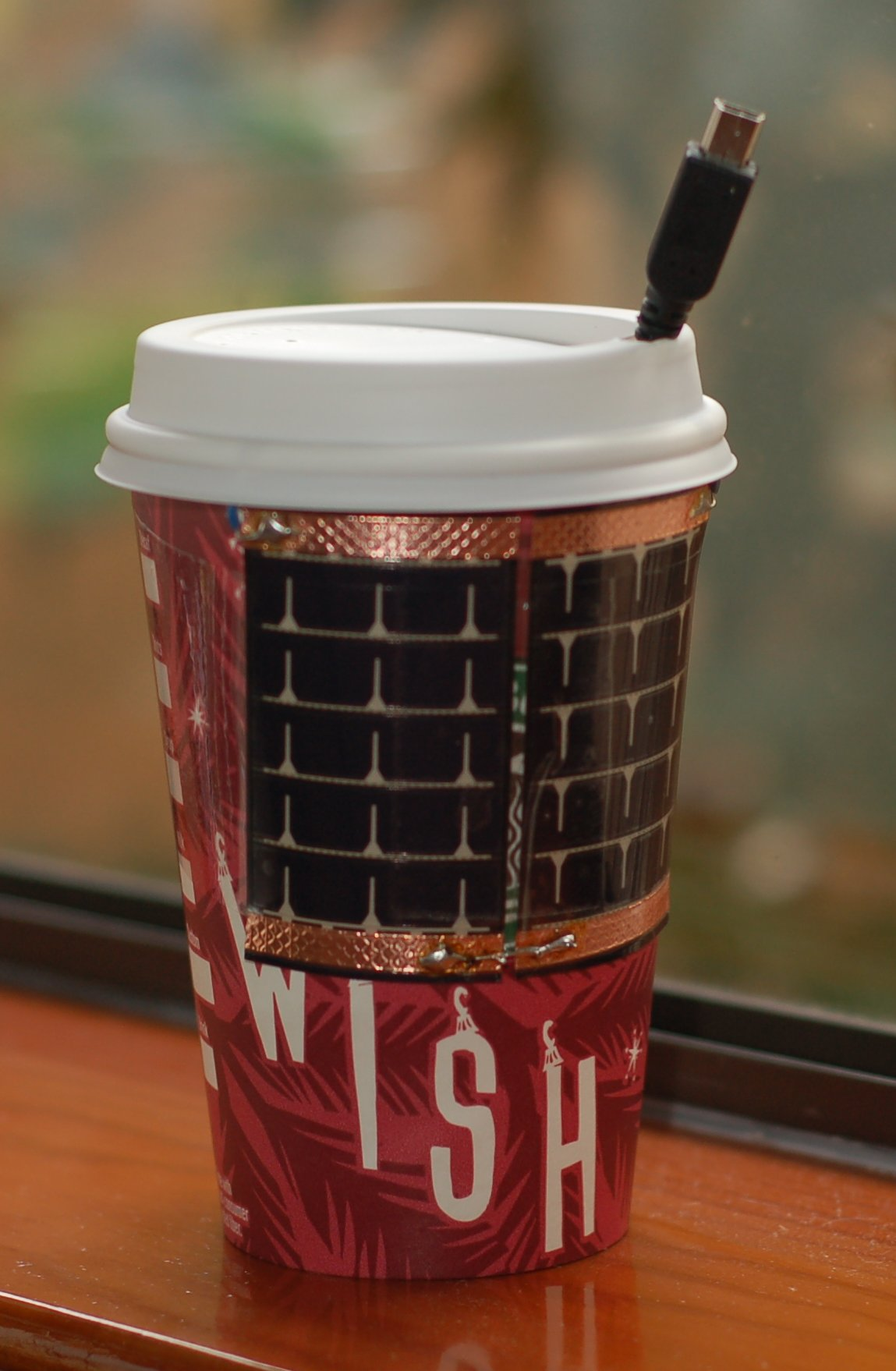 Mr. Buzz, the USB Solar Charger in a Cup