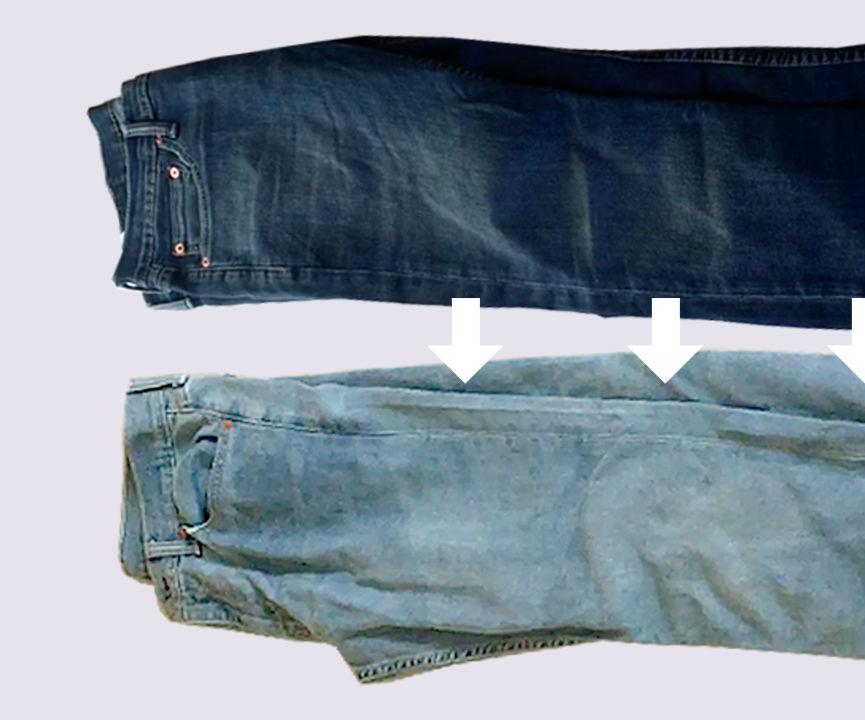Dark Wash Jeans to Light Wash Jeans