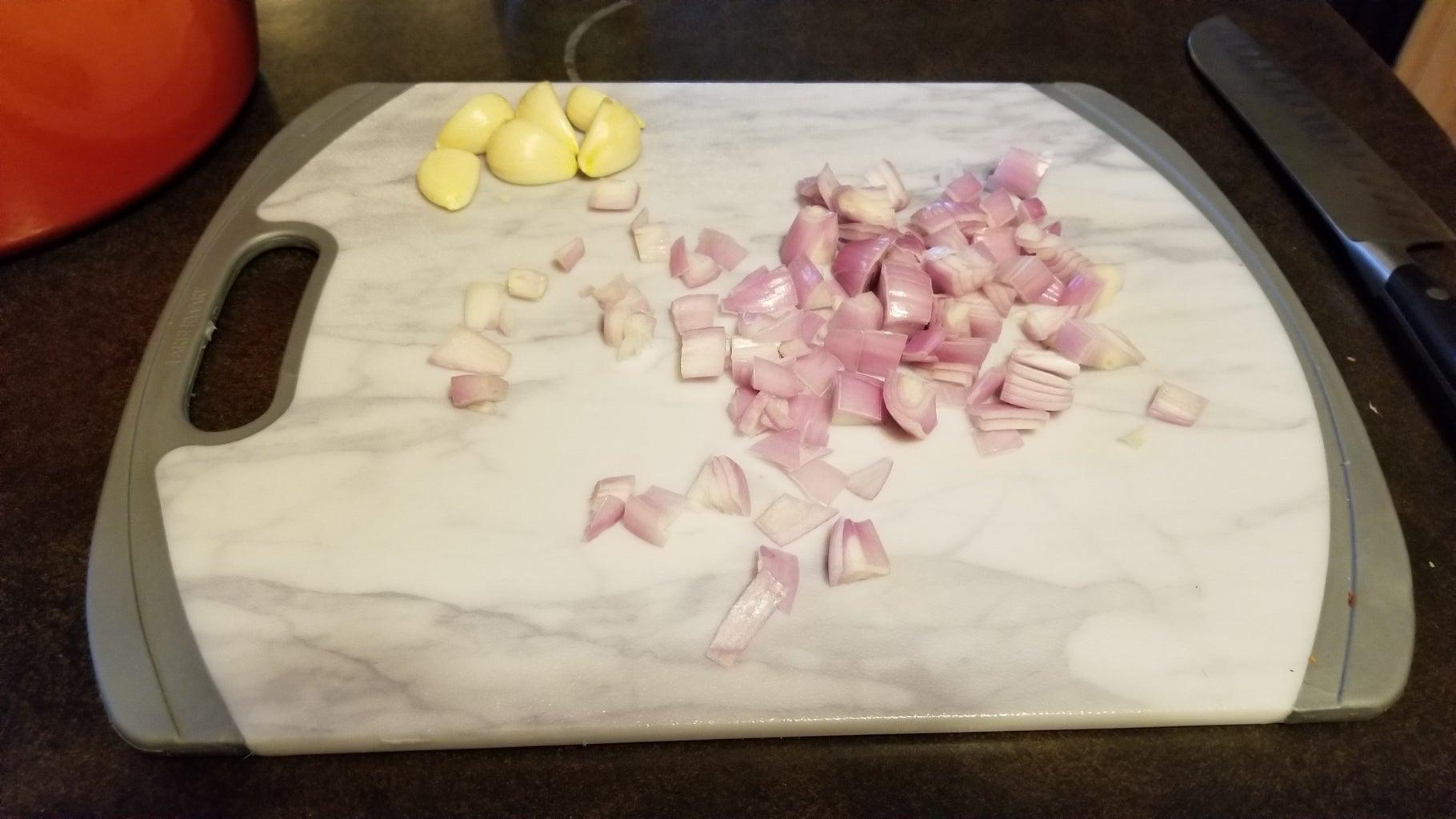 Shallots and Garlic