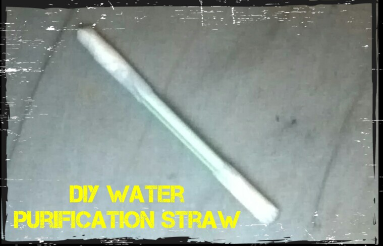 DIY water purification straw