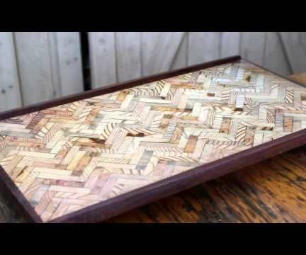 Upcycled Herringbone Laptop Desk