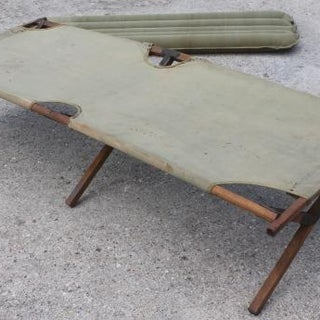 old-folding-camp-cot-WWII-vintage-wood-canvas-army-cot-portable-field-gear-camping-bed-Laurel-Leaf-Farm-item-no-s81248-2.jpg
