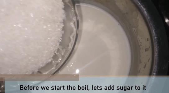 Prepare the Milk With Milk Powder & Sugar