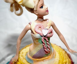 Rainbow Barbie Cake