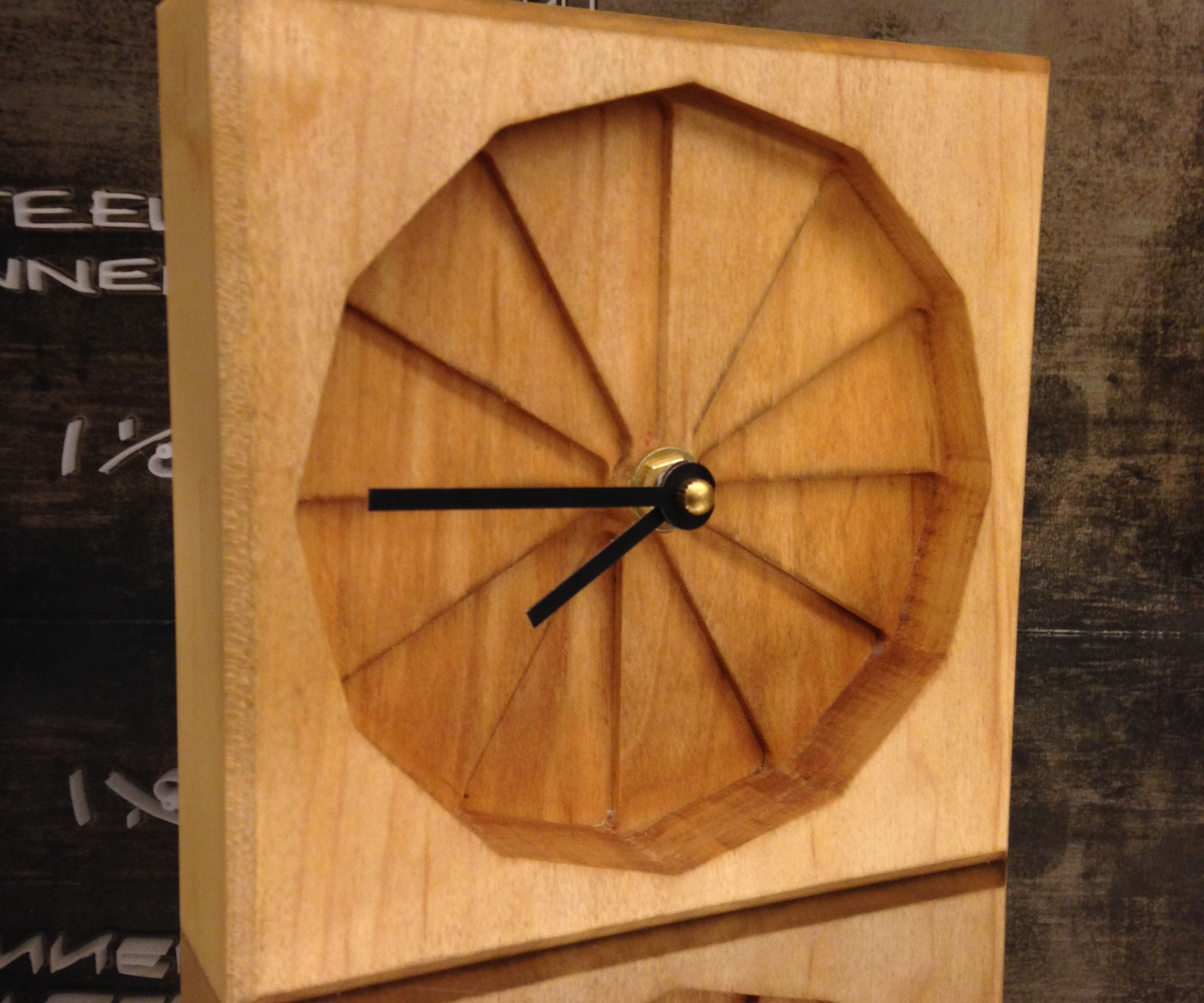 Step by Step Clock- 2 sided CNC wood surfacing with Shopbot router