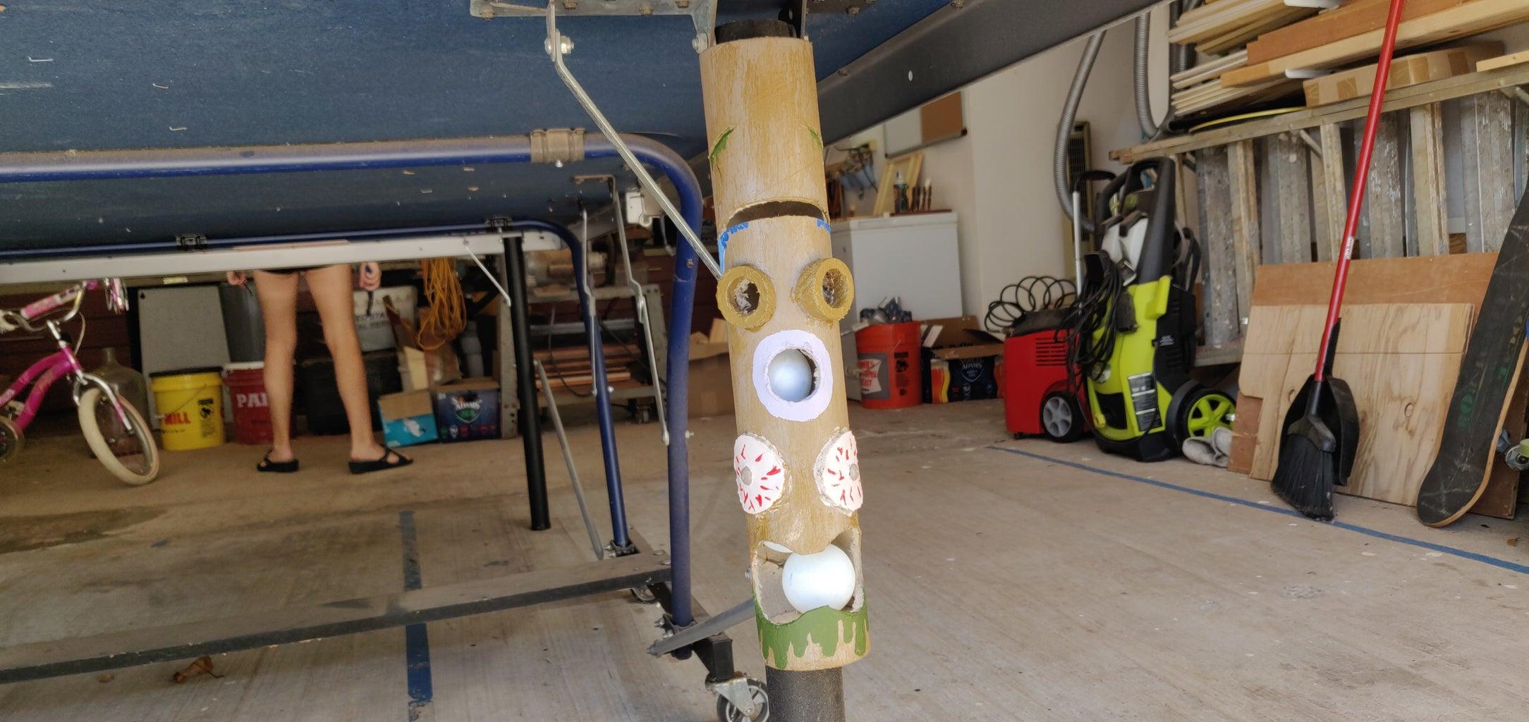 Tiki Totem Ping Pong Dispenser