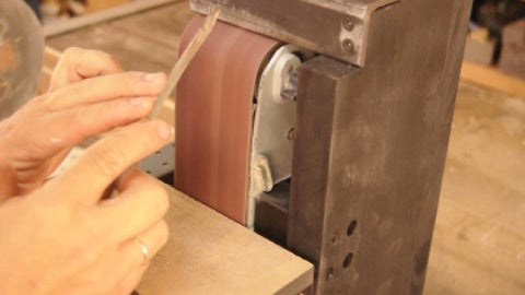 We Rework the Edges of the Blade Handle.