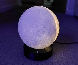 Real Time Moon Phase Lamp
