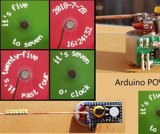 Arduino Wireless Power POV Word Clock