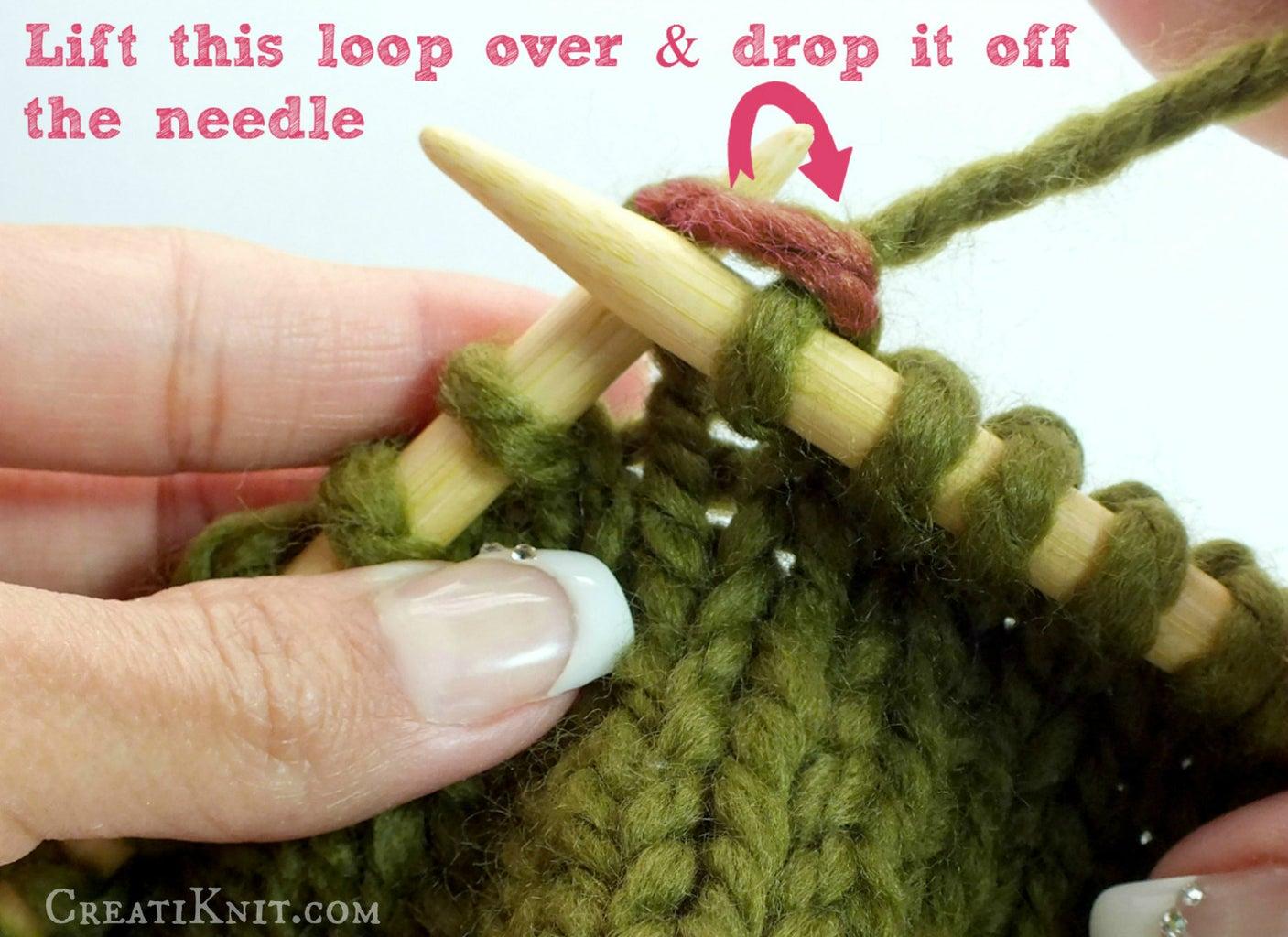 "Bring Right Needle Under Loop & Drop Loop Off Left Needle. ""Peek Through the Window & Off Jumps Jack!"""
