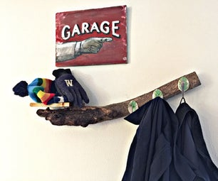 How to Make a Rustic Mudroom Coat Rack Shelf - Quick and Easy DIY
