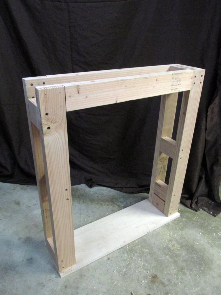 Attaching the Bottom to the 2 by 4 Frame