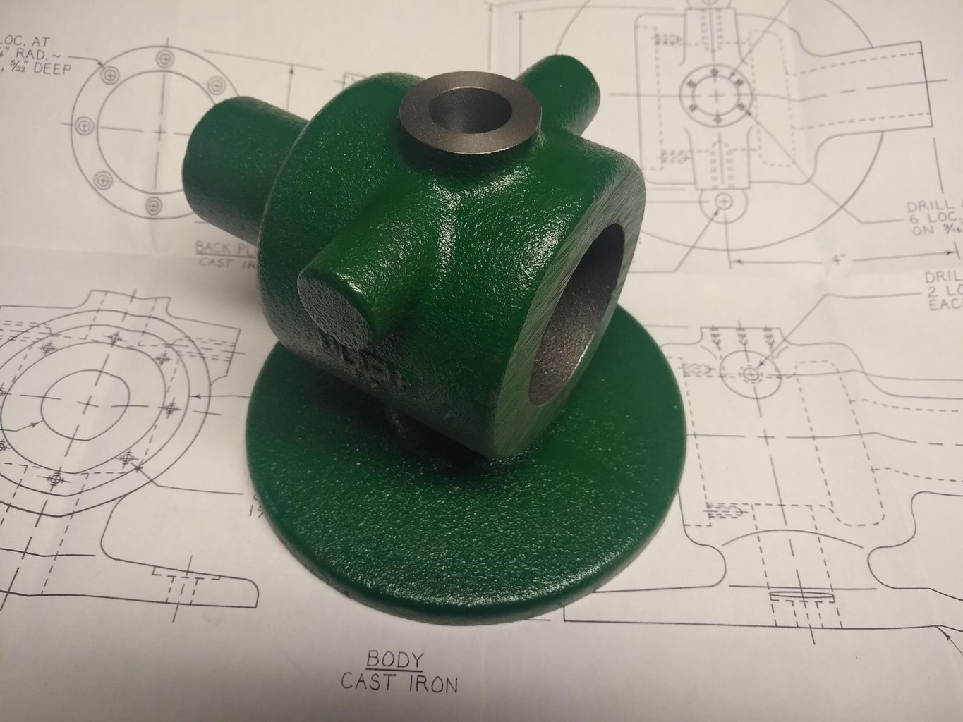 Body - Base Flange and File Shaft Bore