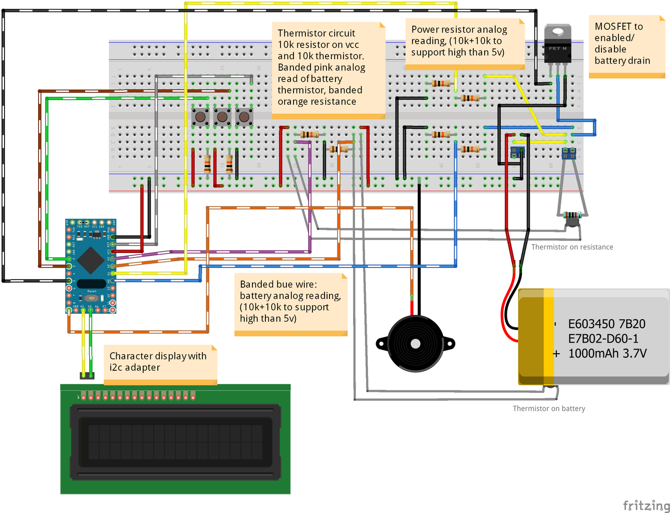 Breadboard: Character Display With I2c Integrated