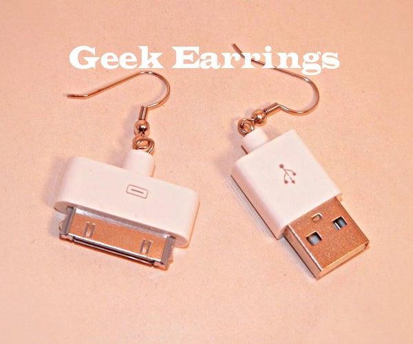 Geeky Apple Earrings