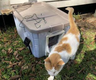 How to Make a Solar Powered Cat House Out of a 19 Gallon Tote