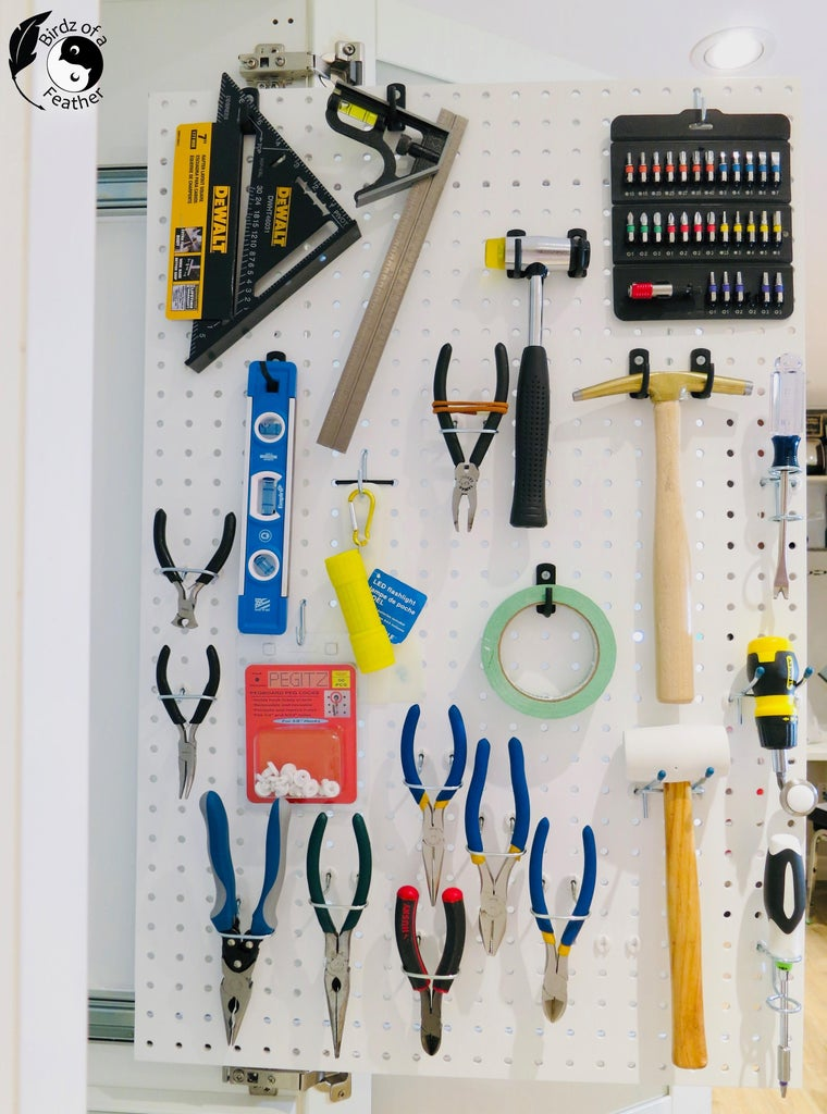 Attach Pegboard and Hooks