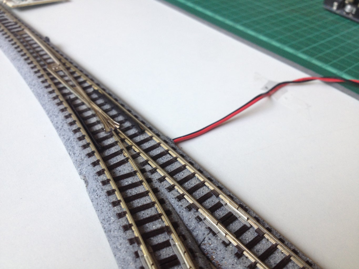 Connect the Track Power Feeder and the Turnout Wires to the Motor Shield