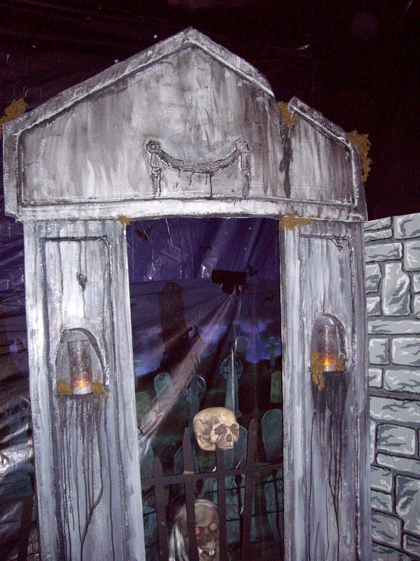 Halloween Mausoleum From Styrofoam