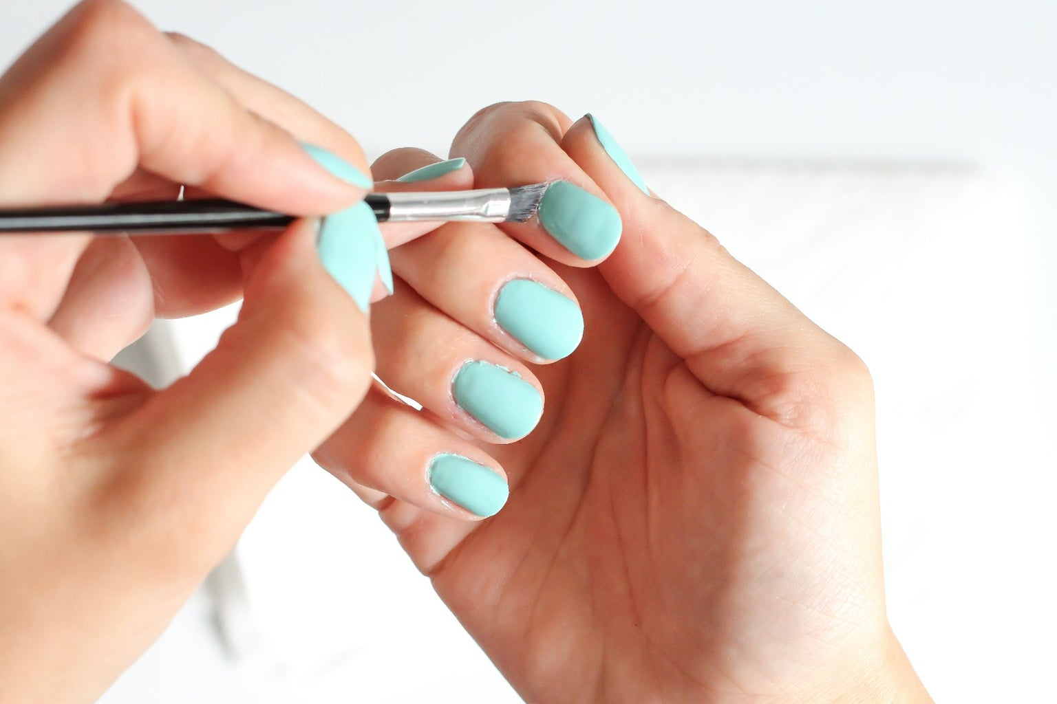 Use the Brush to Remove Excess Polish