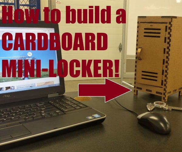 Cardboard Mini Locker
