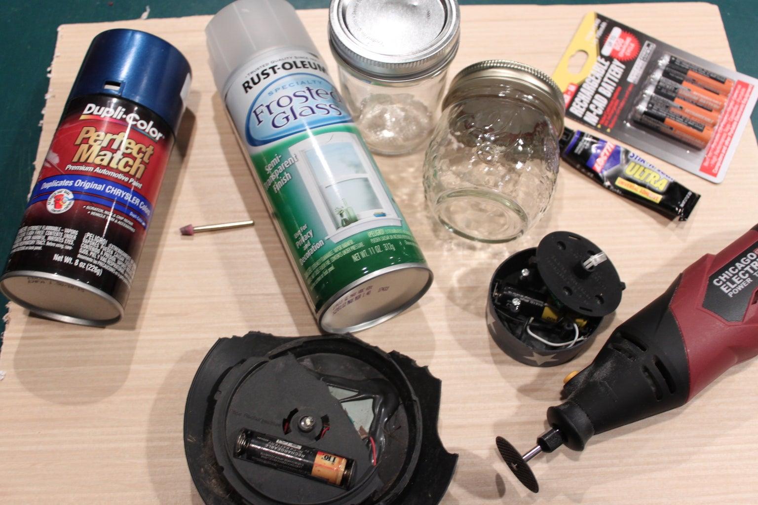 Create Your Own Solar Powered Mason Jar Nightlight From Junk