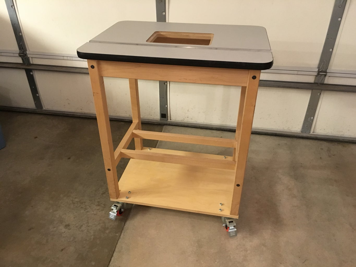 Add Casters to the Table