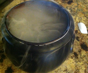 Lighted, Dry Ice, Dry Candy, Fogging Witch's Cauldron