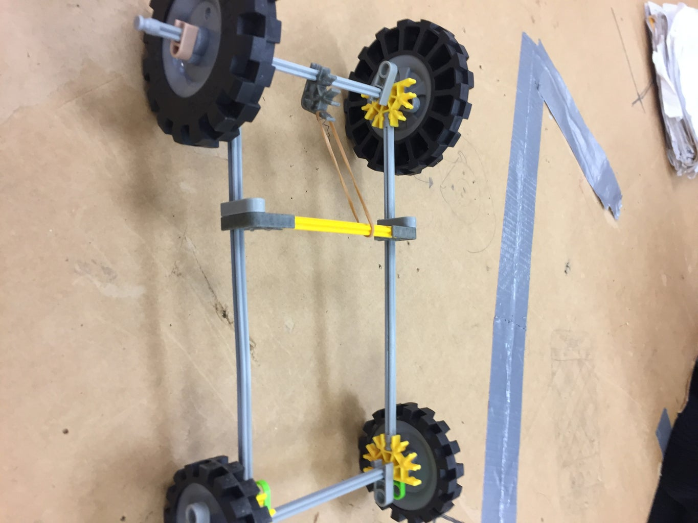 Knex Rubber Band Car