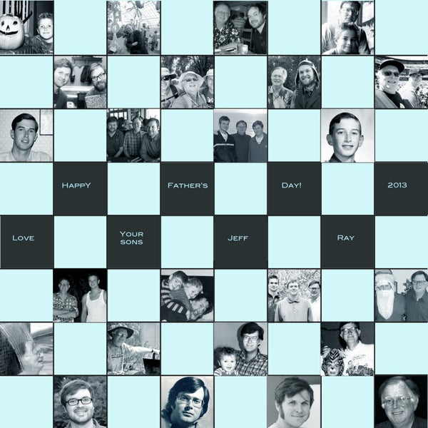 Chess/Checker Board Made With Memories for Dad