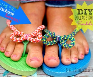 DIY Dollar Store Flip-flop Makeover With the Rainbow Loom!