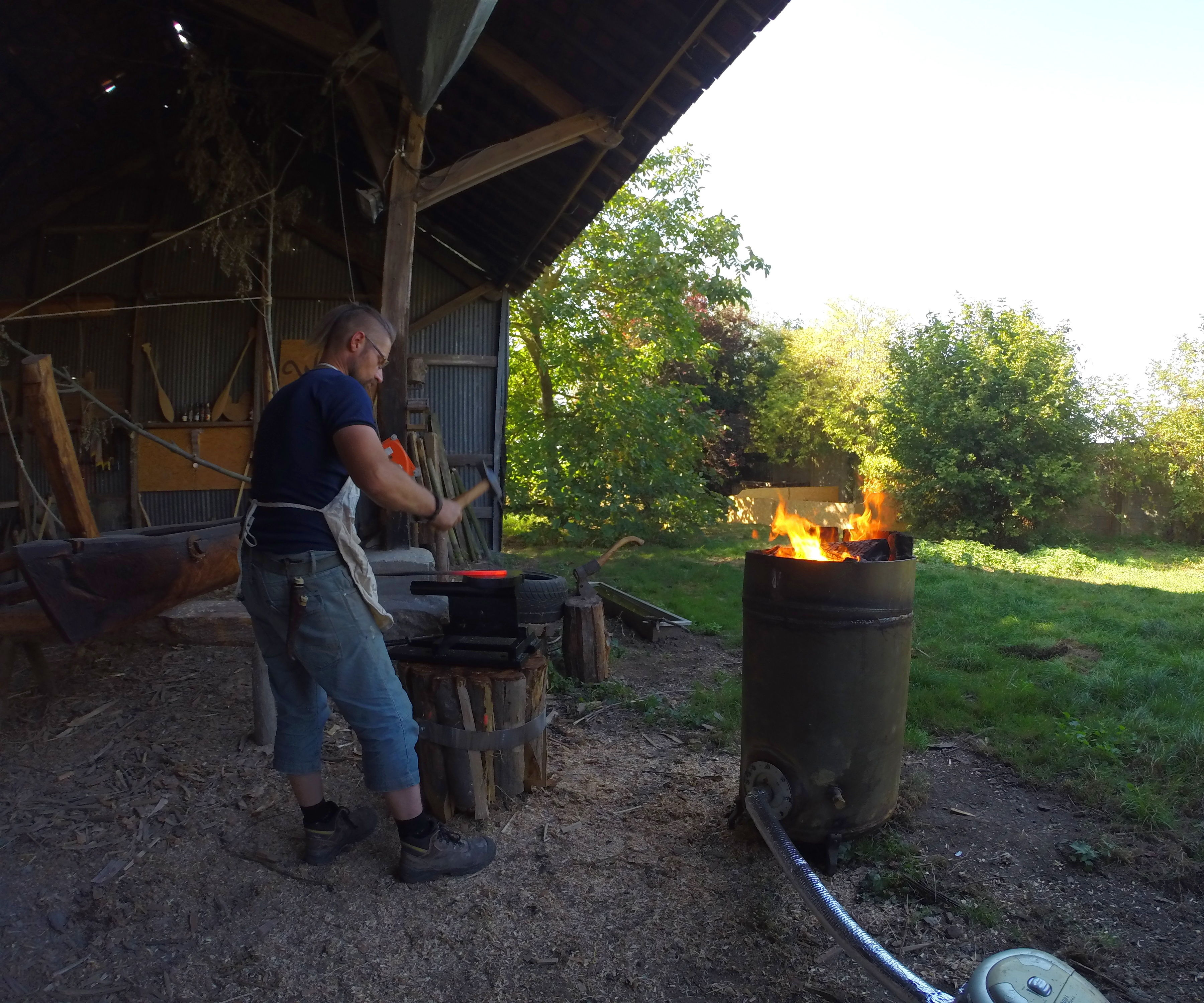First Blow. Getting Into Blacksmithing & Getting It All for Free.