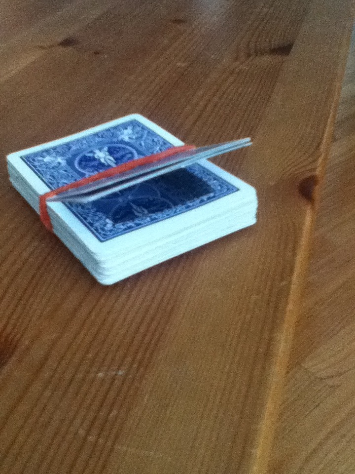 Secret card deck compartement