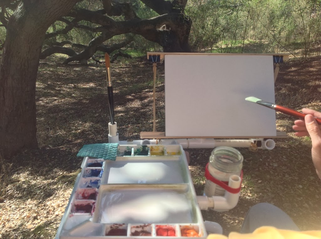 A Handheld Mobile Easel so you can paint anytime and anywhere