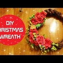 CHRISTMAS WREATH FROM NEWSPAPER
