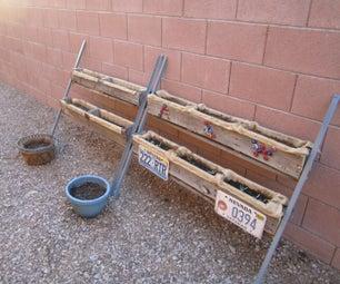 托盘木养花园