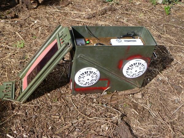 Waterproof, Solar BOOMbox AKA: Post Apocalyptic Power Supply