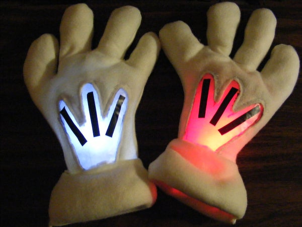 Mickey Mouse Gloves - Glowing Ninzerbean Fists of Retribution