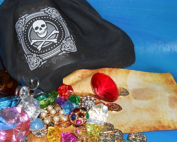 PIRATE LOOT BAG With Hidden Treasure Map